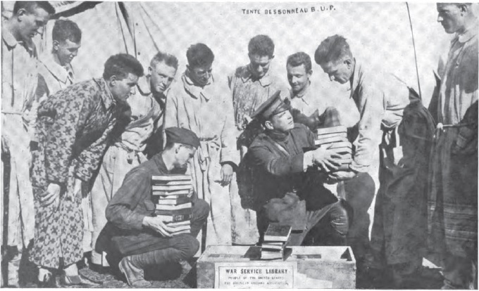 A.L.A. Library War Service, St Denis Hospital, France