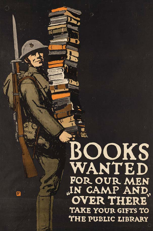 Charles Buckles Falls, 1918, Books Wanted for Our Men