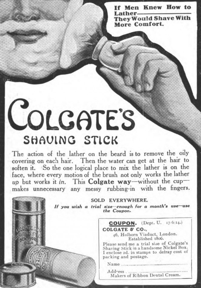 Colgate shaving stick