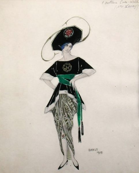 Costume design for Ethel Levy in Hello Tango by L. Bakst