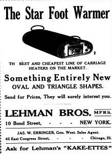 1902 ad for Foot warmer
