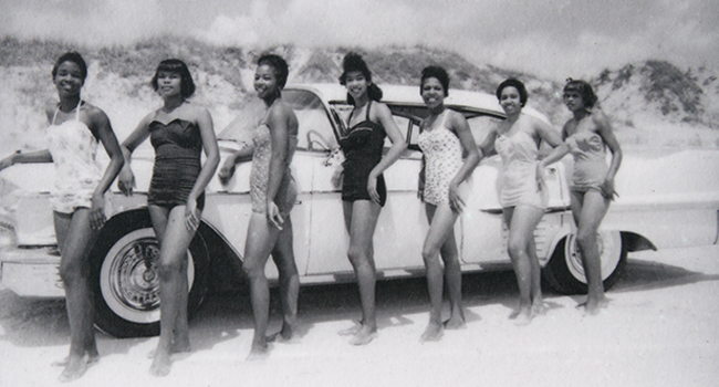 Group of African American women at American Beach, FL