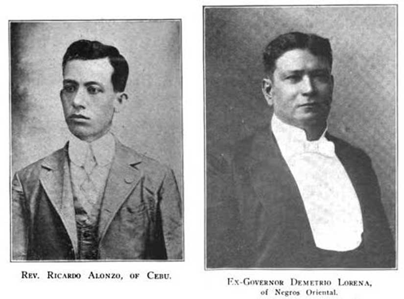 Reverend Ricardo Alonzo, the first Presbyterian minister, and ex-Governor Demetrio Larena, Presbyterian convert.