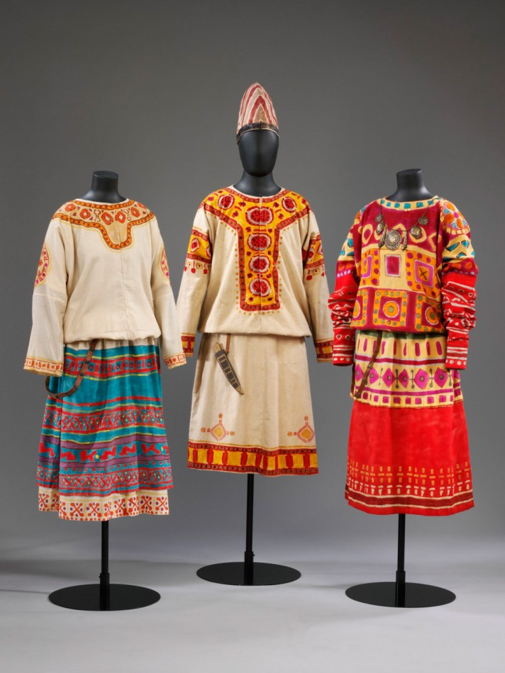 Costumes for two Maidens and an Elder from The Rite of Spring, 1913