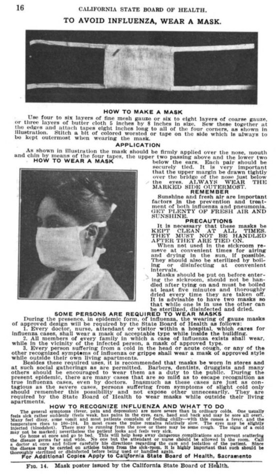 How to make an influenza mask