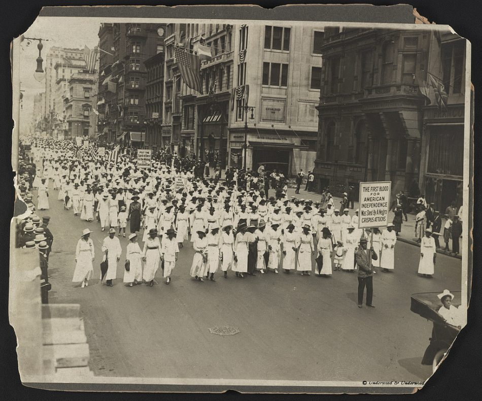 Silent protest parade in New York [City] against the East St. Louis riots, 1917