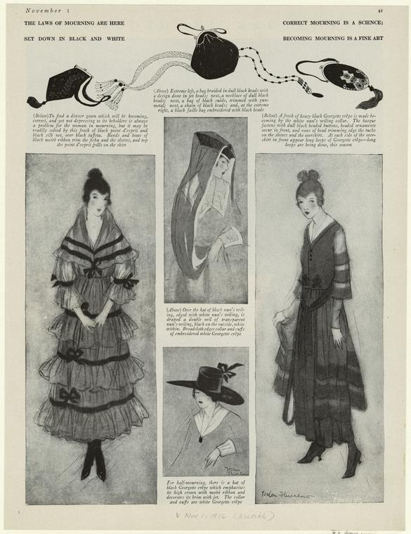 Vogue - Mourning dress for women, 1916