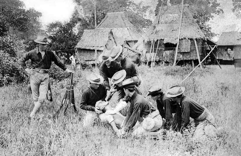 35th US Volunteer Infantry illustrating the water cure in the Philippine-American War