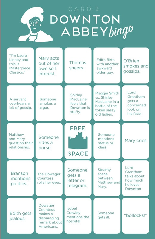 Downton Abbey Bingo © 2014 Paste Media Group