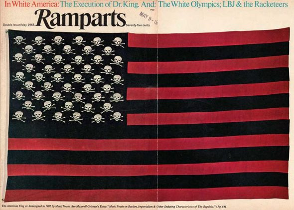 The American Flag as redesigned in 1901 by Mark Twain. Image found here.