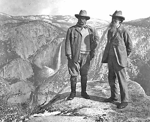 Roosevelt and John Muir at Yosemite National Park NPS Historical Photo