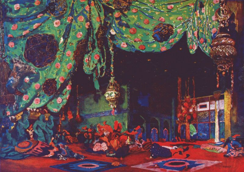 Set Design for Scheherazade - Leon Bakst, 1910