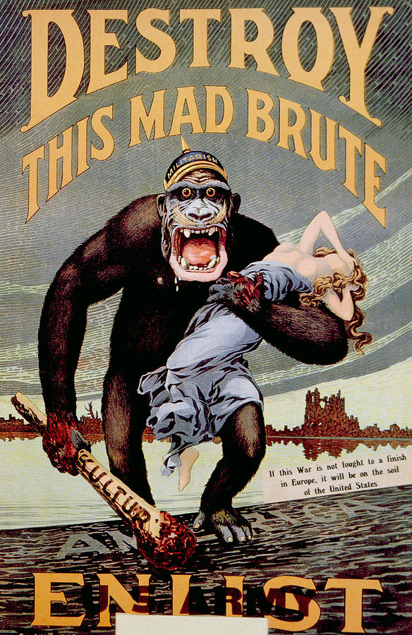 Anti-German WWI propaganda