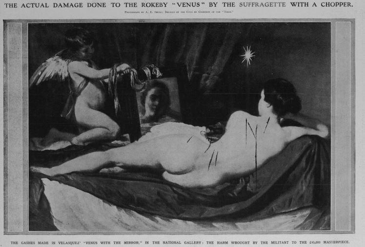 1914 suffragette damage to rokeby venus
