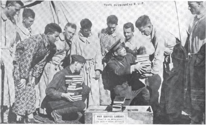 A.L.A. Library War Service, St Denis Hospital, France
