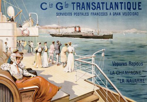 Cie. Gle. Transatlantique, C.1910, Ernest Louis Lessieux
