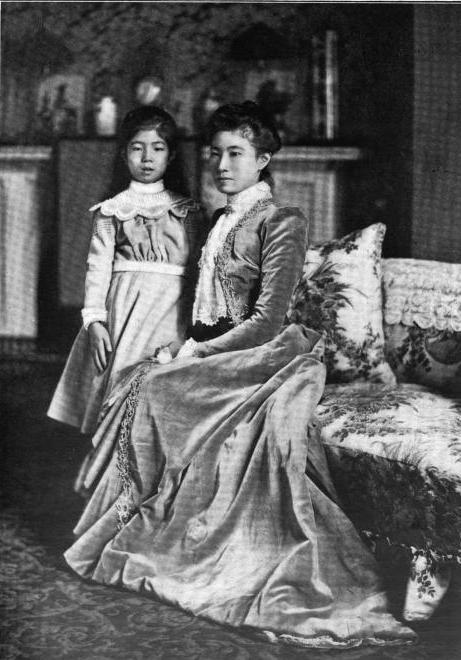 Countess Hayashi and granddaughter