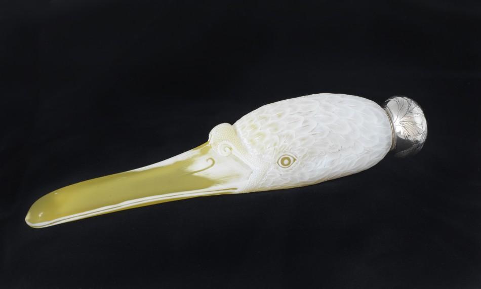 Theodore B. Starr, Inc., Swan-billed flask, ca. 1890