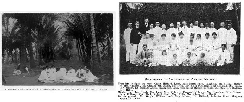 Presbyterian missionaries at Silliman University in Dumaguete.