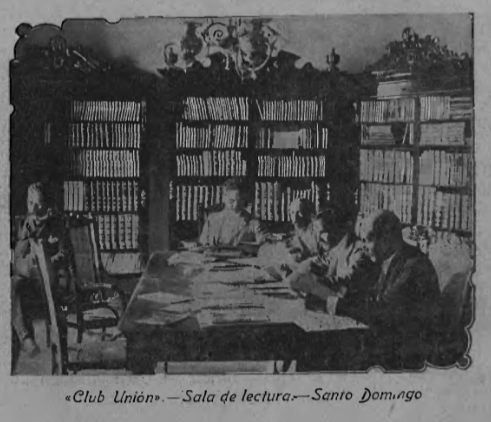 Reading room of the Club Union.