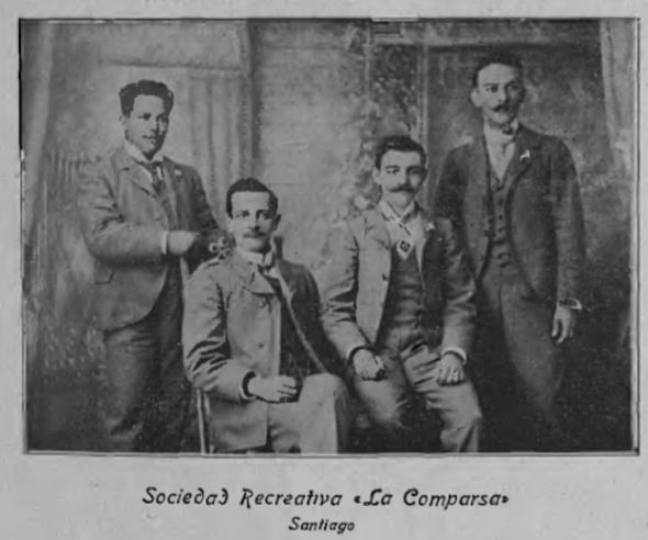 "Members of Recreational Society ""La Comparsa."""