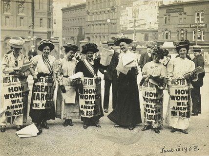 Suffragette poster parade