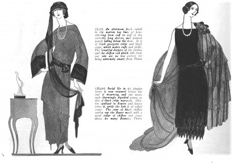 Vogue - mourning, 1922