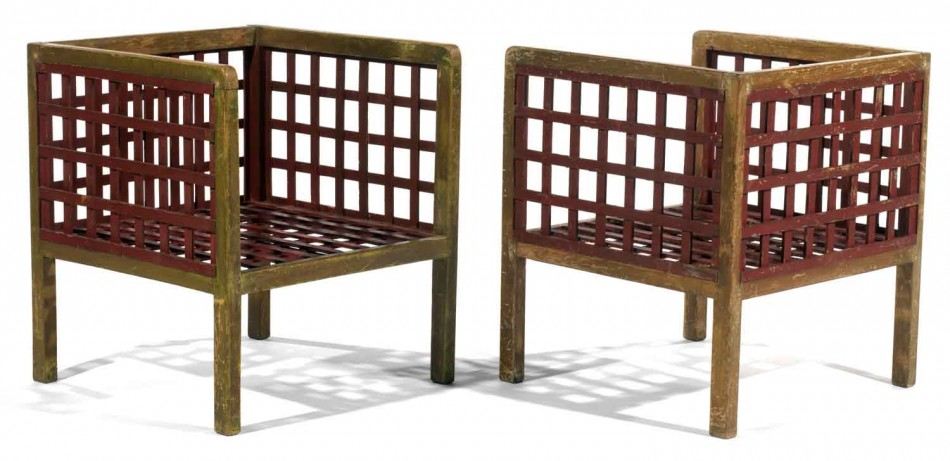 Pair of low armchairs - Martine