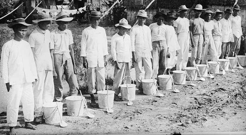 Cholera squad in the Philippines. Photo courtesy of the Library of Congress.