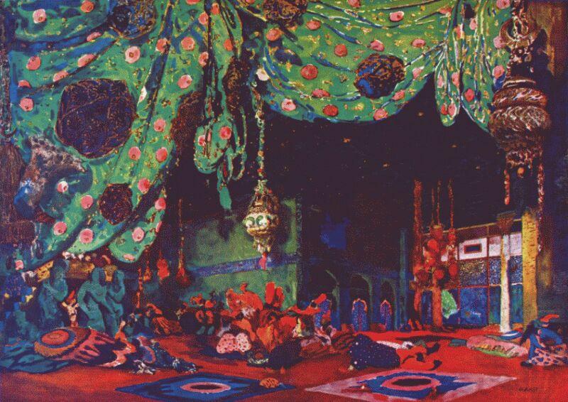 Set Design for Scheherazade - Leon Bakst, 1910